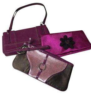 Nine West purple/fuschia Clutch