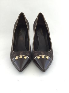 Louis Vuitton Pointed Toe Lv Monogram Gold Hardware Lv Idylle Pumps