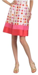 Kate Spade Skirt Cream & pink polka dot