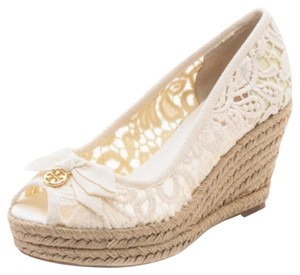 1fb52c3c8033 White Tory Burch Wedges - Up to 90% off at Tradesy