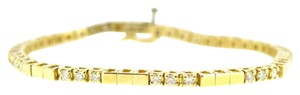 Other 14K Yellow Gold 1.0 Ct Round Diamond Bracelet 14 Grams 7
