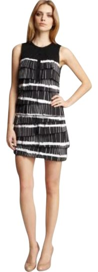 best BCBGMAXAZRIA $238 Nwt Bcbg Max Azria Diana Tiered Black & White Sleeveless Size Xxs Dress - 76% Off Retail