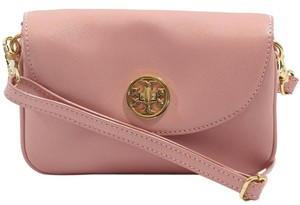 Tory Burch Saffiano Leather Clutch Cross Body Bag