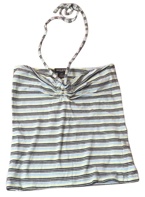 Preload https://img-static.tradesy.com/item/15808972/guess-green-striped-strapless-xs-blouse-size-4-s-0-1-650-650.jpg