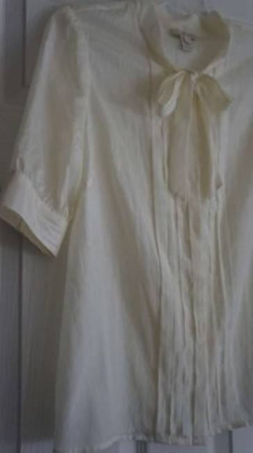 J.Crew Silk Business Professional Top Sheer Ivory