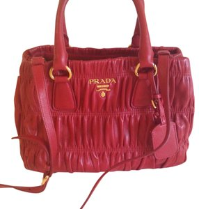 Prada Satchel in Red/Fuoco
