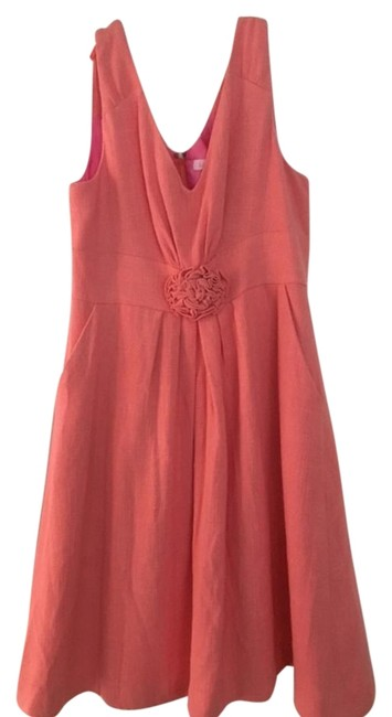 Preload https://img-static.tradesy.com/item/15809560/lilly-pulitzer-coral-garden-party-above-knee-short-casual-dress-size-10-m-0-1-650-650.jpg