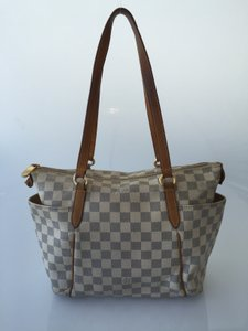Louis Vuitton Totally Pm Totally Damier Canvas Azur Tote in Damier Azur