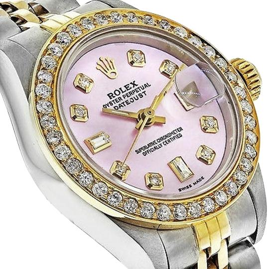 Rolex Pre Owned 69173 Womens Datejust Two Tone Gold Watch
