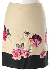Blumarine Floral Color-blocking Skirt