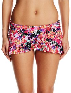 Kenneth Cole RS5LP92. Kennth Cole Multi-floral bikini bottom halter, ruffle skirt floral print