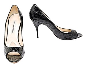 Brian Atwood Patent Leather Black Pumps