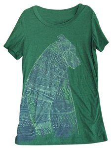 Fossil T Shirt Green with Blue