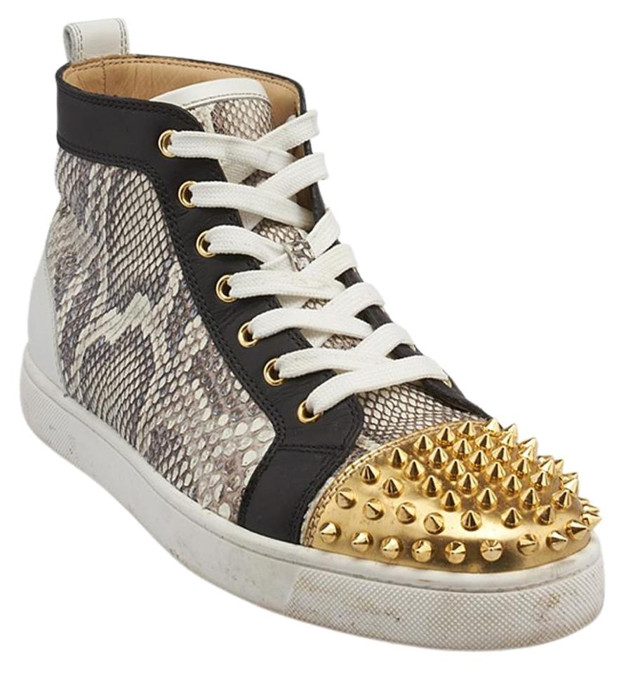 3ab30cf59a45 Christian Louboutin Men Python Louis Spikes Sneakers Multicolor Athletic  Image 0 ...
