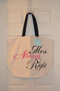 Mrs. Always Right Bridal Eco Reusable Tote Bag Brand New W/ Tags