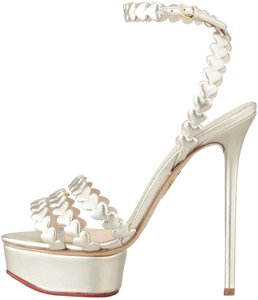 Charlotte Olympia Heels Ankle Strap Gold Platforms