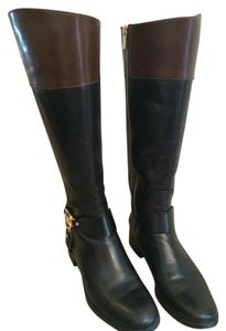 MICHAEL Michael Kors Black/Mocha Leather Boots