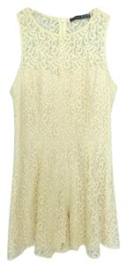 French Atmosphere short dress Ivory Crochet Lace on Tradesy
