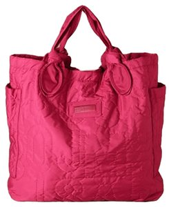 Marc by Marc Jacobs Designer Quilted Tote Beach Diaper Pink Travel Bag