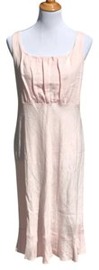 short dress Pink Made In Usa Linen on Tradesy