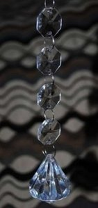 Clear 25- Hanging Diamond Crystals -acrylic- Reception Decoration