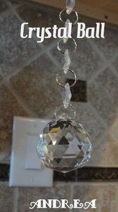 Clear 24-hanging Glass Balls Super Rainbow Sparklie Reception Decoration