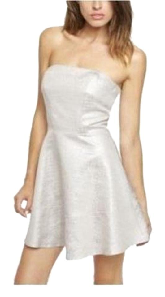 Express Silver Short Cocktail Dress Size 6 (S) - Tradesy