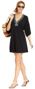 dotti Dotti,Black,Embellished,Split,Dolman,Sleeve,Cover,Up,