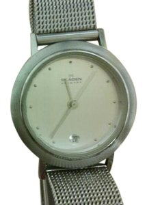 Skagen Denmark Skagen of Denmark silvertone watch with mesh stainless steel band.