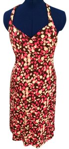 BCBGMAXAZRIA short dress pink, brown, cream Designer Day Floral Print on Tradesy