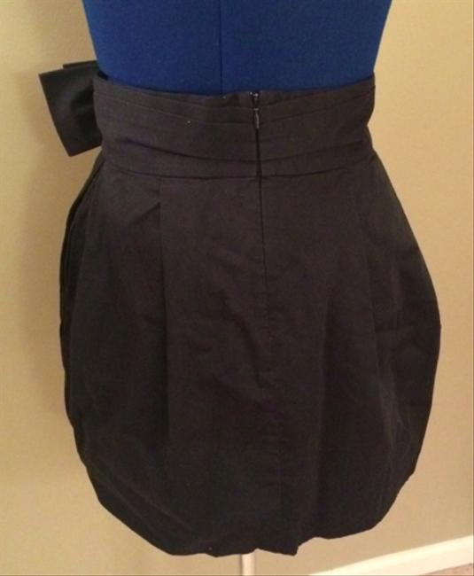 BCBGMAXAZRIA Mini Bubble High Waist Work Dressy Skirt Black