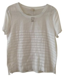 J.Crew Sheer Summer T Shirt White