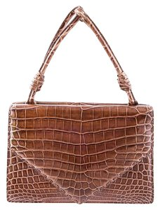 Bottega Veneta Crocodile Tote in Brown