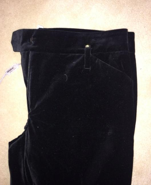Sportmax Cigarette Velvet Designer New Straight Pants Black