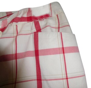 Liz Claiborne Clean Iron Wear Quality Capris Creme and Red