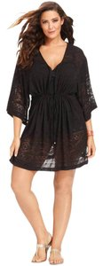 dotti Dotti black lasercut swim cover up tunic
