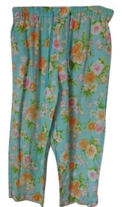 Jones New York Elastic Waist Tie In Front Relaxed Pants Multi