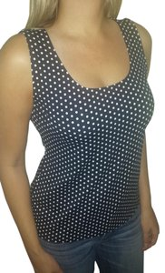 Charter Club Cami Polka Dot Top Black and White