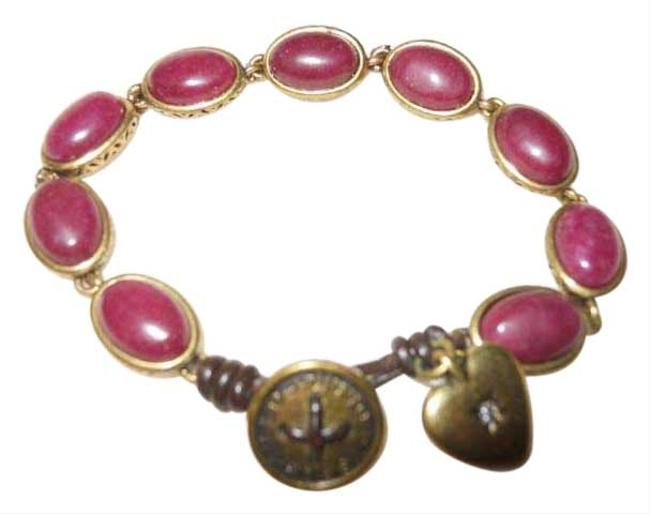 Fossil Red & Gold Heart Charm Bracelet Fossil Red & Gold Heart Charm Bracelet Image 1
