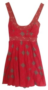 Free People short dress Red, Grey on Tradesy