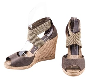 Jean-Michel Cazabat Metallic Brown/Gold Sandals