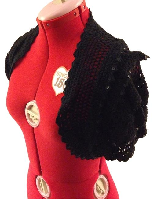 Betsey Johnson Shrug Sequins Retro Pinup Cape