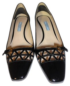 Prada 6.5 Patent Leather Black Pumps
