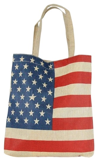 Preload https://img-static.tradesy.com/item/15812893/american-flag-weekend-shopping-beach-multicolor-polyester-cotton-tote-0-1-540-540.jpg