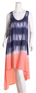 Navy/Sunrise Maxi Dress by Splendid Tie Dye Hi Low Hem