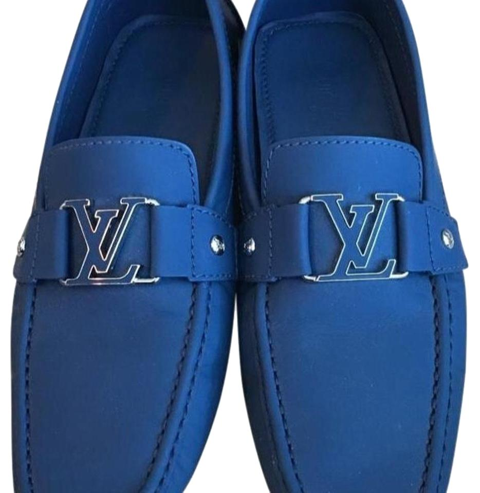 471fb46f9cc4 Louis Vuitton Blue Mens Driving Loafers Flats Size US 8.5 Regular (M ...