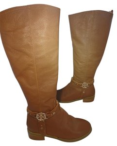 Tory Burch Leather Tan Boots