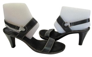 Aerosoles Size 8.00 Leather Black Sandals