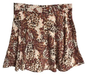 American Rag Mini Skirt Brown, Cream, Tan, Coral, Mauve, Burgundy