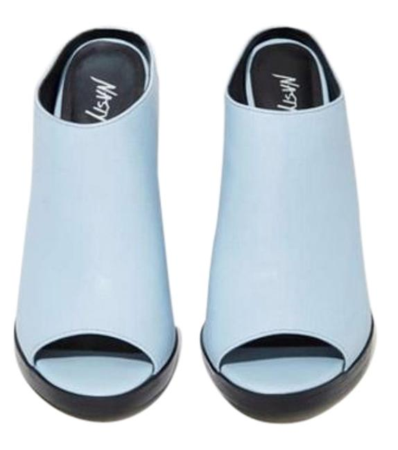 Nasty Gal Blue Spin Me Round Mule Sandals Pumps Size US 5 Regular (M, B) Nasty Gal Blue Spin Me Round Mule Sandals Pumps Size US 5 Regular (M, B) Image 1